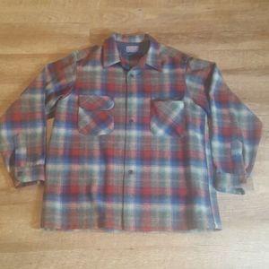 Pendleton Mens Multicolored Plaid Wool XL Shirt